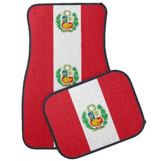 Set of car mats with Flag of Peru