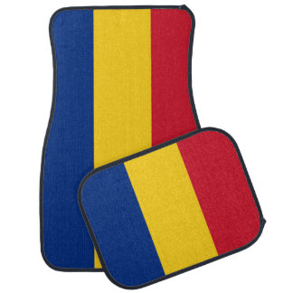 Set of car mats with Flag of Romania