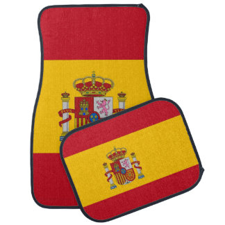 Set of car mats with Flag of Spain