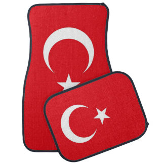 Set of car mats with Flag of Turkey
