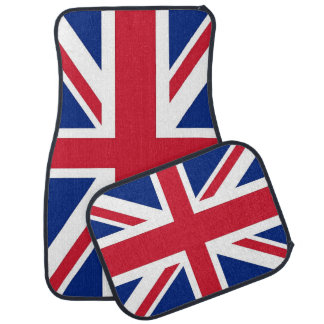 Set of car mats with Flag of United Kingdom