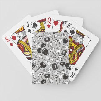 Set of Keys Background Poker Deck