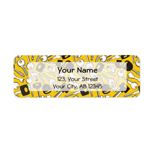 Set of Keys Background Return Address Label