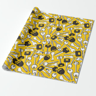 Set of Keys Background Wrapping Paper