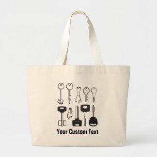 Set of Keys Large Tote Bag
