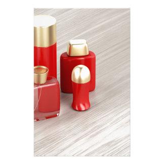 Set of men's cosmetic products stationery
