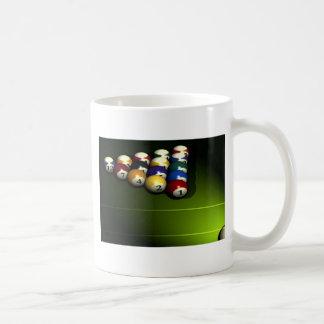 Set of pool balls basic white mug