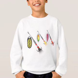 Set of spinners fishing lures vector illustration sweatshirt