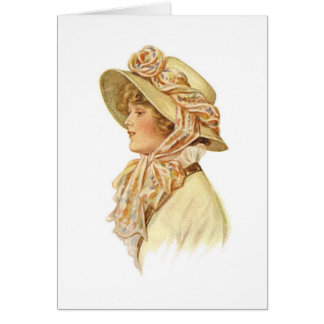 Set of Vintage Millinery Notecards [3B] Card