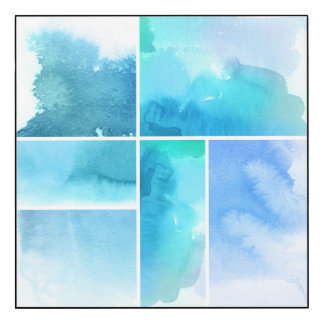 Set of watercolor abstract hand painted 2