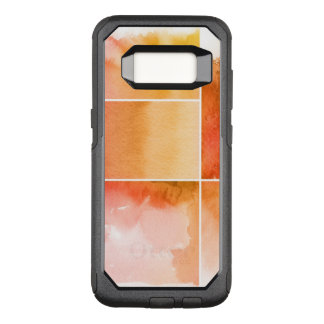 Set of watercolor abstract hand painted 4 OtterBox commuter samsung galaxy s8 case
