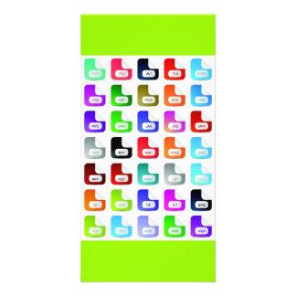 Set of website icons 03 customized photo card
