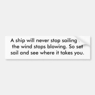 Set Sail Bumper Sticker