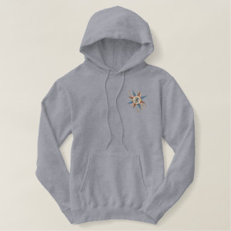 Set Sail Compass Rose Embroidered Hoodie