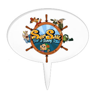 Set sail for a funny tale cake toppers