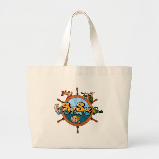 Set sail for a funny tale large tote bag