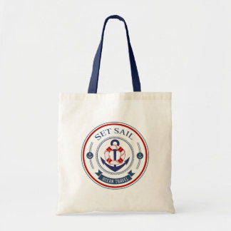 Set Sail Ocean Travel Nautical Tote Bag
