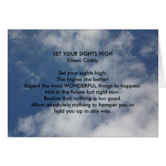 Set Your Sights High Greeting Card