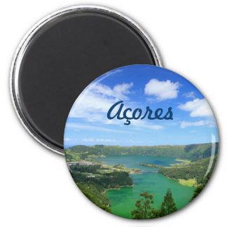 Sete Cidades - Azores 6 Cm Round Magnet