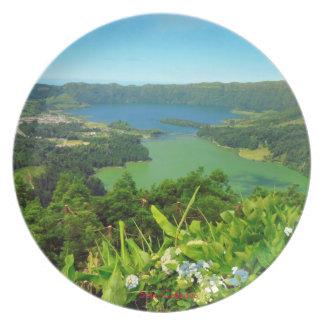 Sete Cidades Azores Panorama Plate