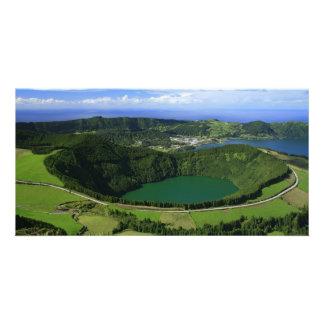 Sete Cidades - Azores Customized Photo Card