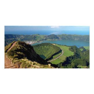 Sete Cidades - Azores Photo Card Template