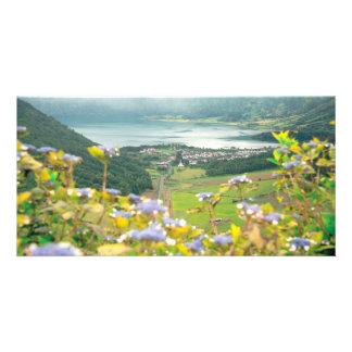 Sete Cidades crater Custom Photo Card