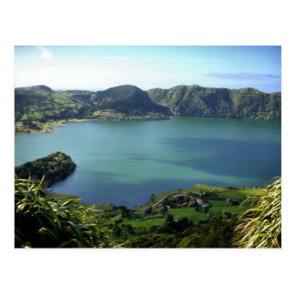 Sete Cidades Lagoon in S. Miguel, Azores Postcard