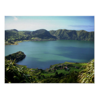 Sete Cidades Lagoon in S. Miguel, Azores Poster