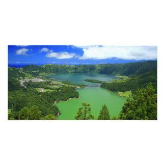 Sete Cidades lakes Photo Card