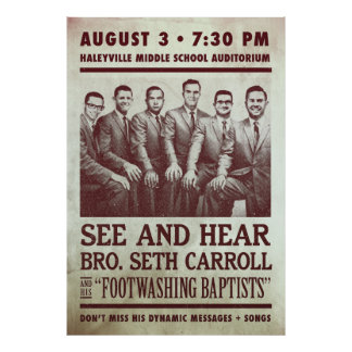 Seth Carroll Revival Show Print Poster