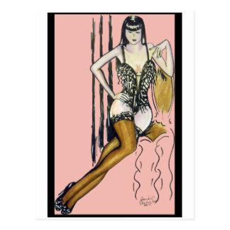 Seti - Brunette Pin-up Girl Card