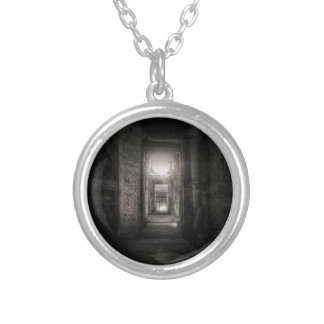 Seti I Temple Abydos Silver Plated Necklace