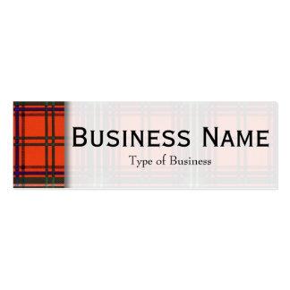 Seton clan Plaid Scottish tartan Pack Of Skinny Business Cards