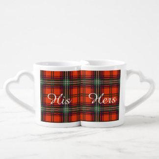 Seton clan Plaid Scottish tartan Lovers Mug Sets