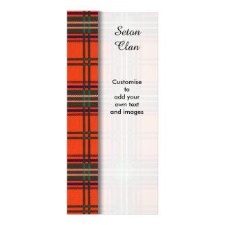 Seton clan Plaid Scottish tartan Custom Rack Cards