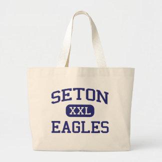 Seton - Eagles - Catholic - Houston Texas Jumbo Tote Bag