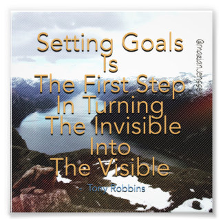 Setting goals is the first step photograph
