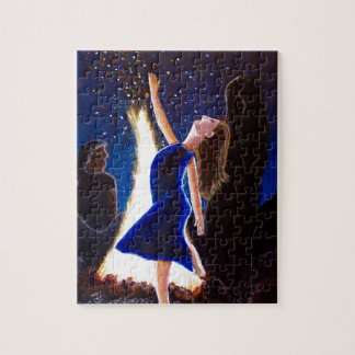 Setting on fire jigsaw puzzle
