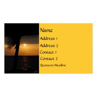 Setting Sun at Twilight Business Card Templates
