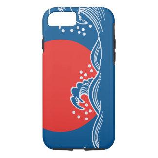 Setting sun on blue waves design iPhone 7 case