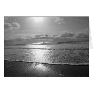 Setting Sun over the Ocean Card