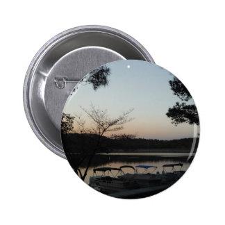 Setting Sun Rising Moon over Lake Arrowhead Button