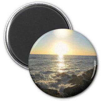 Setting Suns 6 Cm Round Magnet