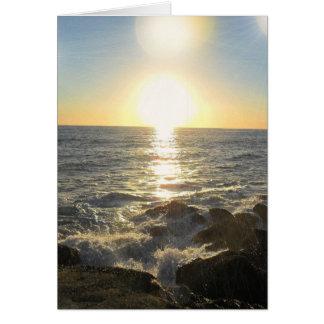 Setting Suns Greeting Card