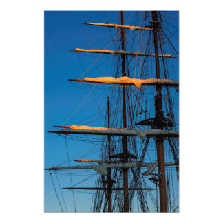 Setting Through The Masts Photo Print
