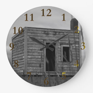 settlers cabin aotearoa new zealand large clock