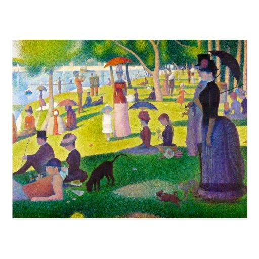 Seurat La Grande Jatte Postcard