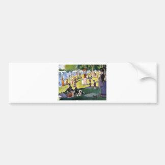Seurat_Sundayafternoon pitt.jpg Bumper Sticker