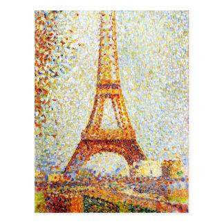 Seurat: The Eiffel Tower Postcard